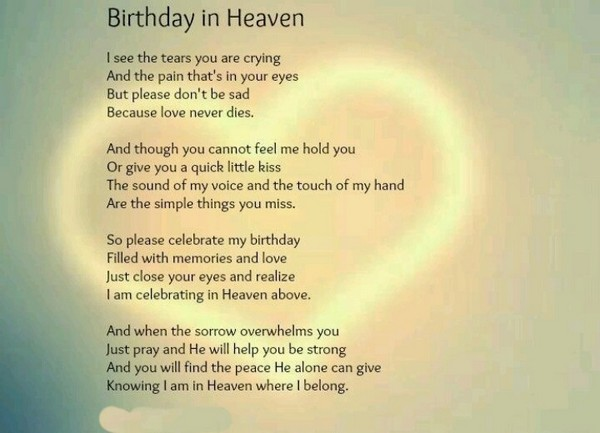 The 60 Happy Birthday In Heaven Quotes Wishesgreeting