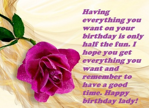 30 Happy Birthday Lady Quotes And Wishes Wishesgreeting