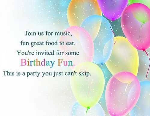 50 birthday invitation sms and messages