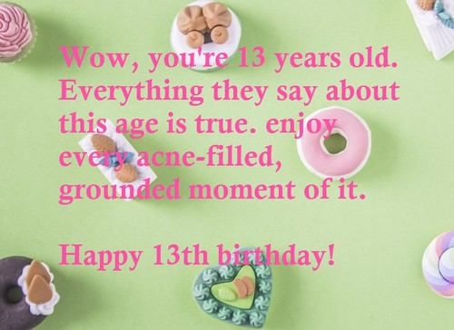 Happy 13th Birthday Wishesgreeting
