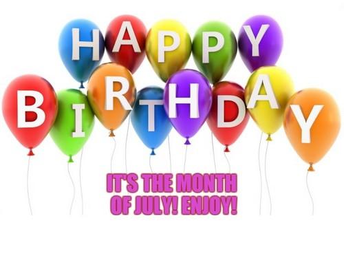 Happy Birthday July Wishesgreeting