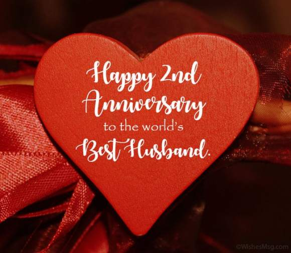 2nd Anniversary Wishes For Husband Images