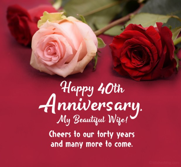 40th anniversary wishes for wife