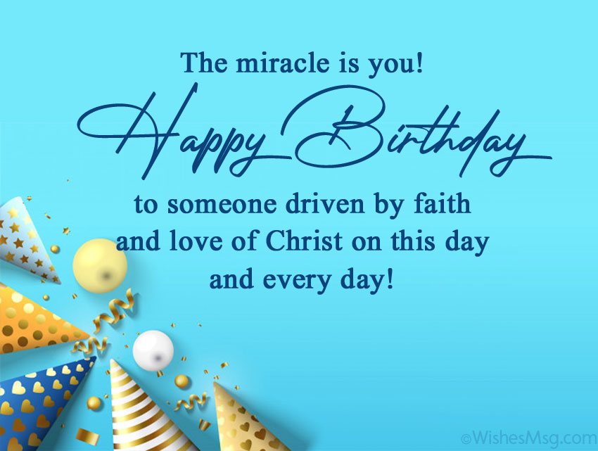 70 Christian Birthday Wishes and Bible Verses | WishesMsg