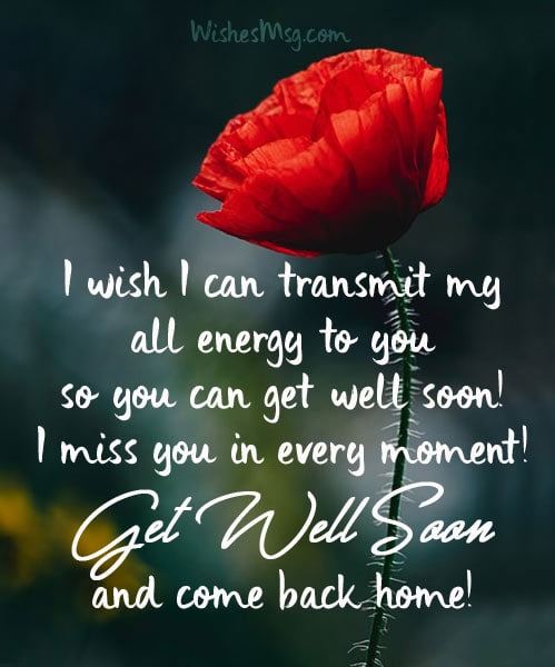 Get Well Soon Wishes Messages For Husband WishesMsg