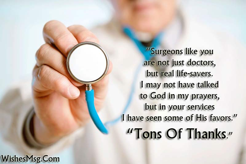 Thank You Messages For Doctor Appreciation Notes WishesMsg