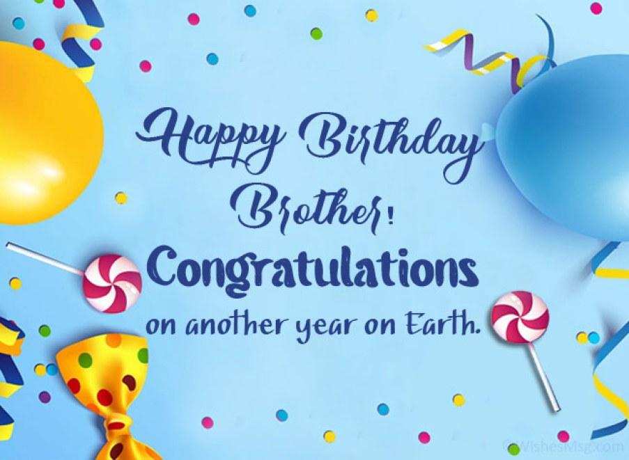 200+ Birthday Wishes For Brother - Happy Birthday Brother | WishesMsg