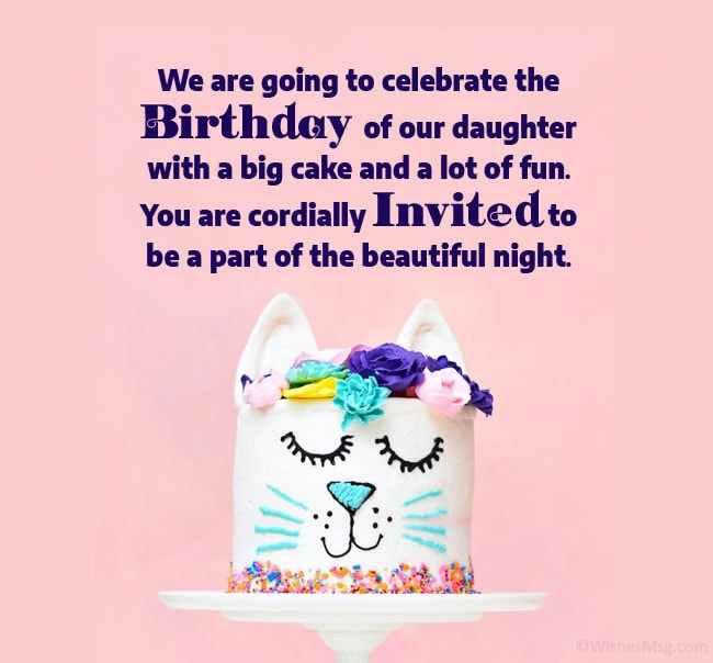 Birthday Invitation Messages And Wording Ideas Wishesmsg