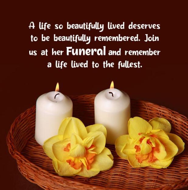 funeral invitation wording ideas