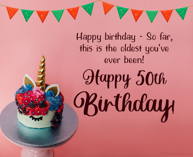 Funny 50th Birthday Wishes Messages And Quotes Wishesmsg