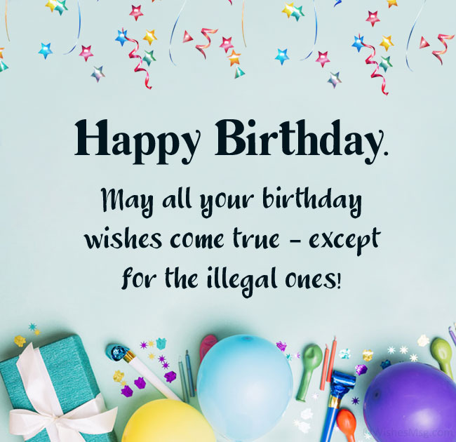 Funny Birthday Wishes Messages And Quotes Wishesmsg