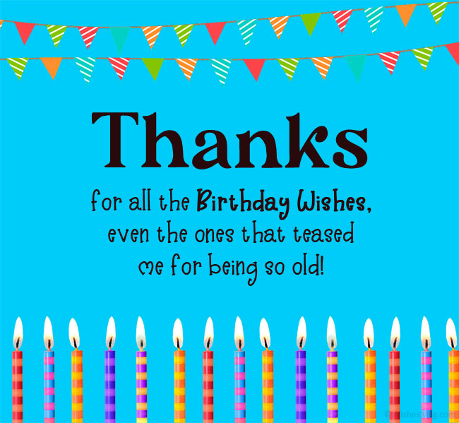 100 Thank You For Birthday Wishes Wishesmsg