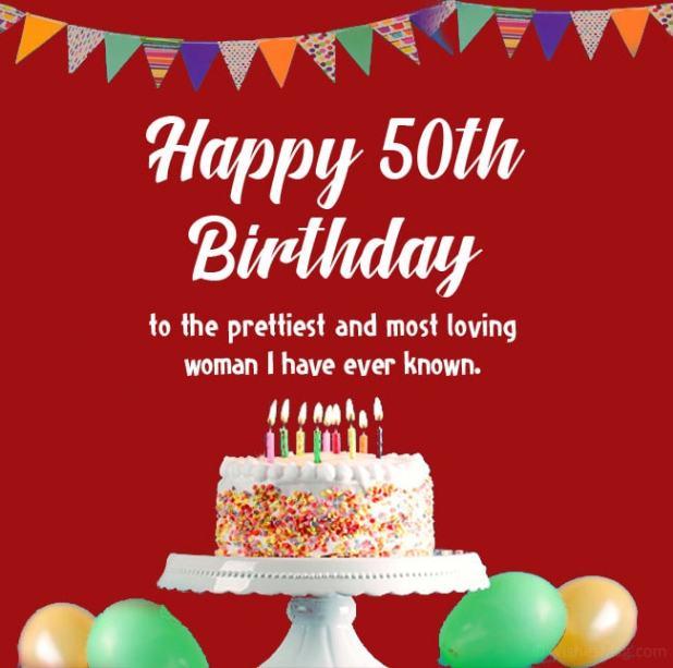 happy 50th birthday woman