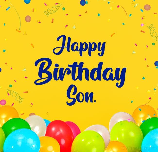 80 Birthday Wishes For Son Happy Birthday Son Wishesmsg