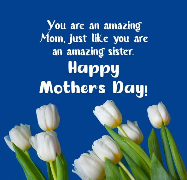 happy mothers day sister