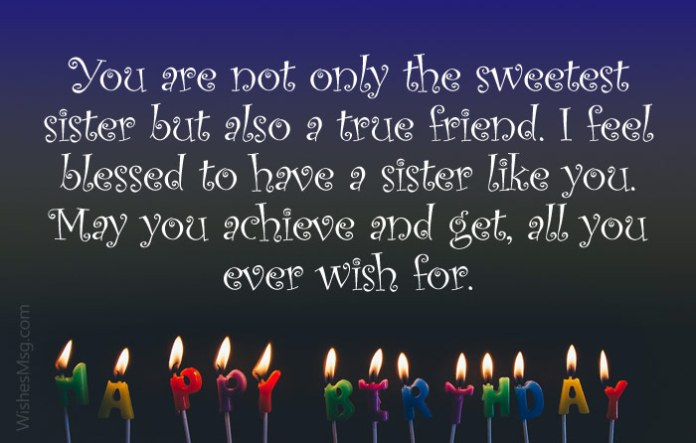 sister birthday messages
