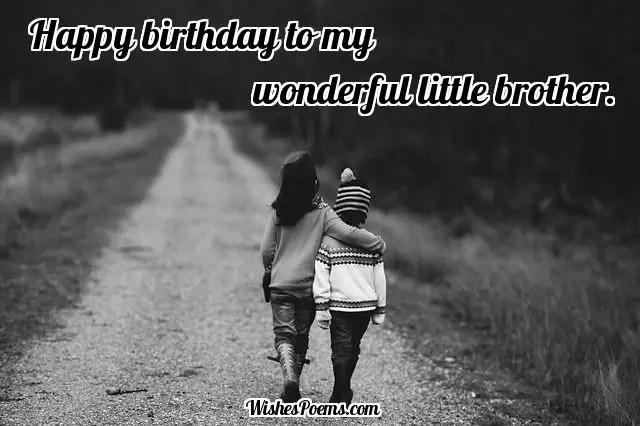 happy birthday little brother