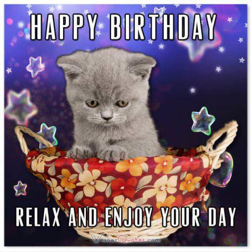 Happy Birthday To The Coolest Cat In Town Birthday Cat In A Hat
