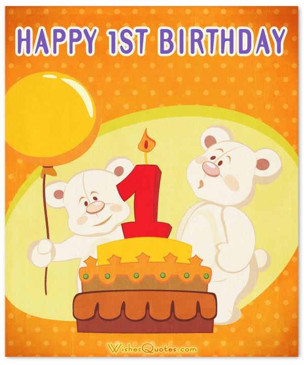 1st Birthday Wishes And Cute Baby Birthday Messages Wishesquotes