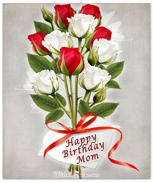 Happy Wishes Mother Birthday Heaven