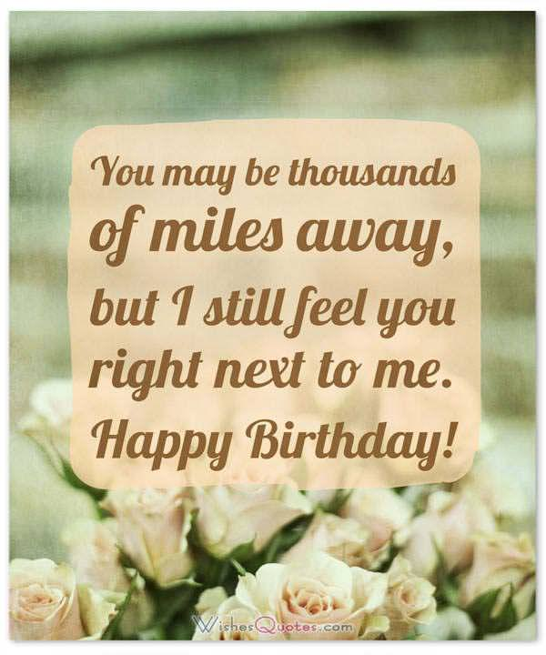 30 Birthday Wishes For Someone Special Who Is Far Away