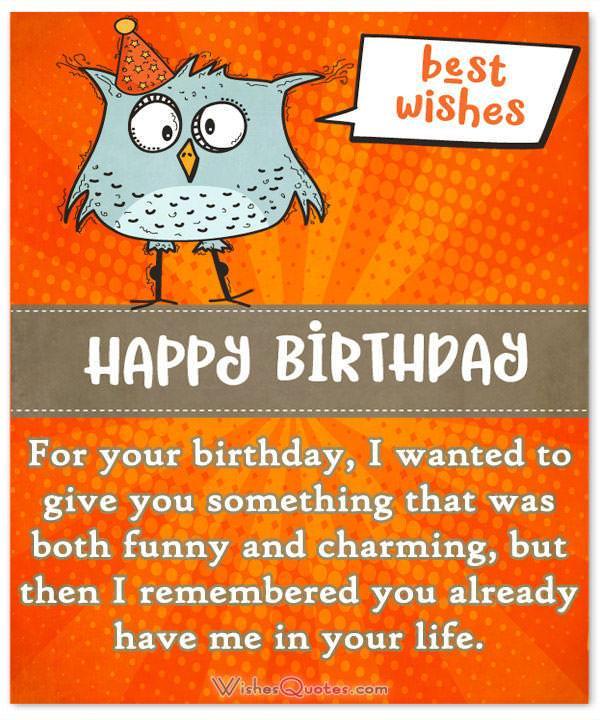 Funny Birthday Card Lines