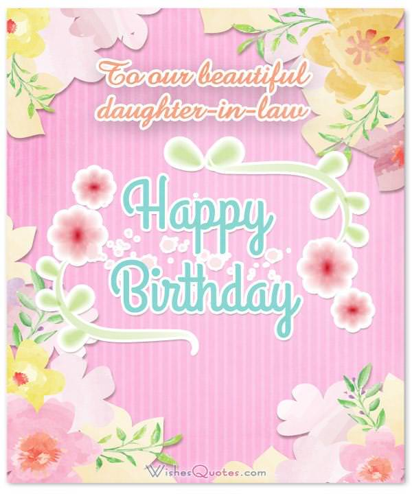Birthday Wishes For Daughter In Law From The Heart By Wishesquotes