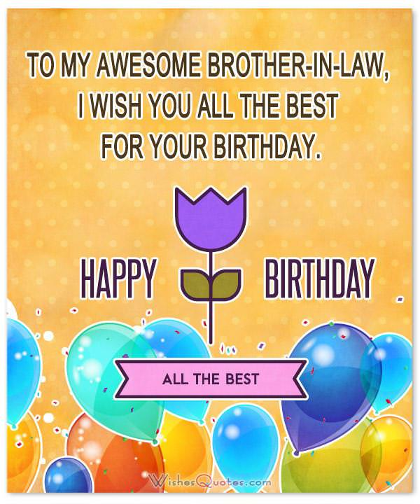 Brother In Law Birthday Wishes Messages And Cards By WishesQuotes