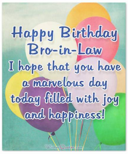 Amazing Birthday Wishes And Cards For Your Brother In Law