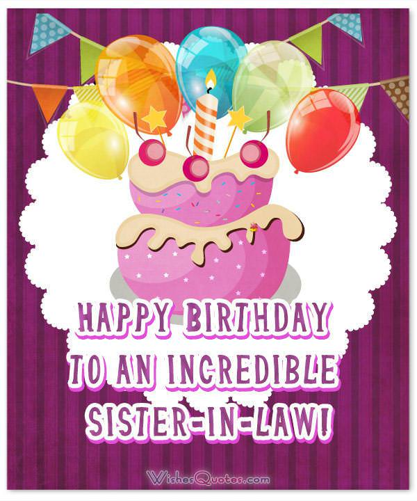 Sister In Law Birthday Messages And Cards By Wishesquotes