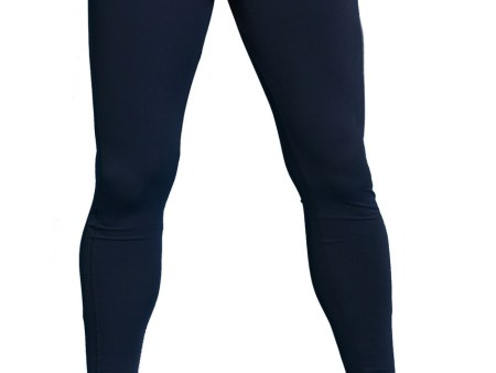 Mens UV Protective Clothes Swim Tights Full Legs UPF50+ Navy Chlorine Resistant