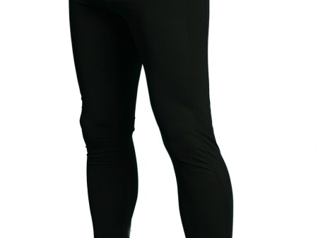 Mens Sun Protective Clothing Swim Tights in Black