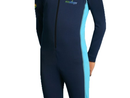 Swimsuit Full body Sun and UV protection for boys Navy Blue