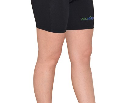 Ladies UV Protective Swim Shorts Above Knee Length UPF50+ Black hlorine Resistant