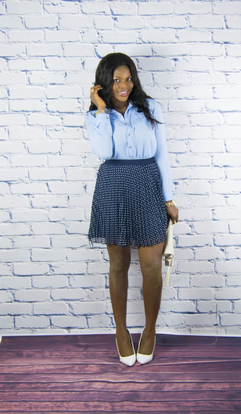 polkadot skirt-denim top-14