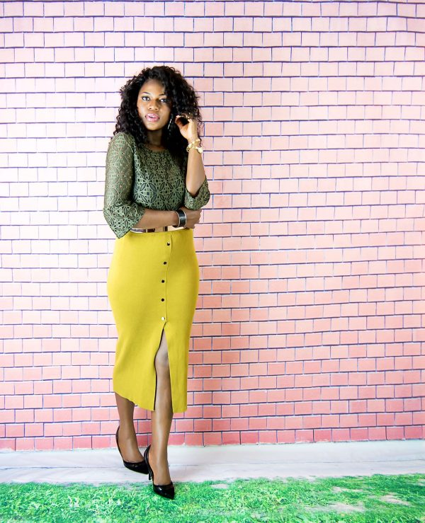 autumn midi skirt