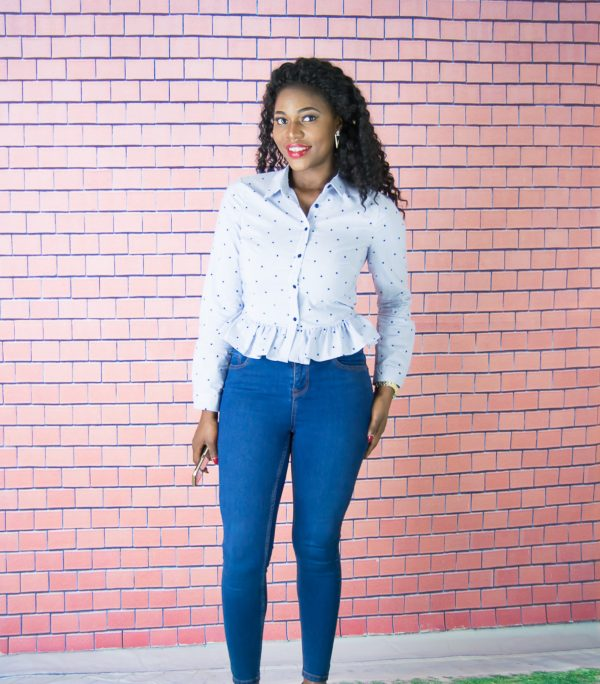star-printed-peplum-shirt