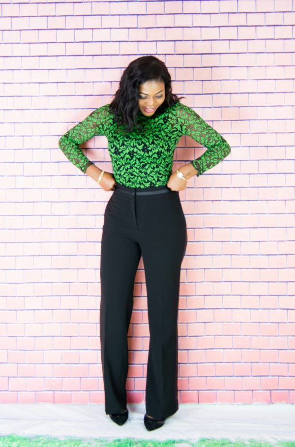 high waist trouser outfit