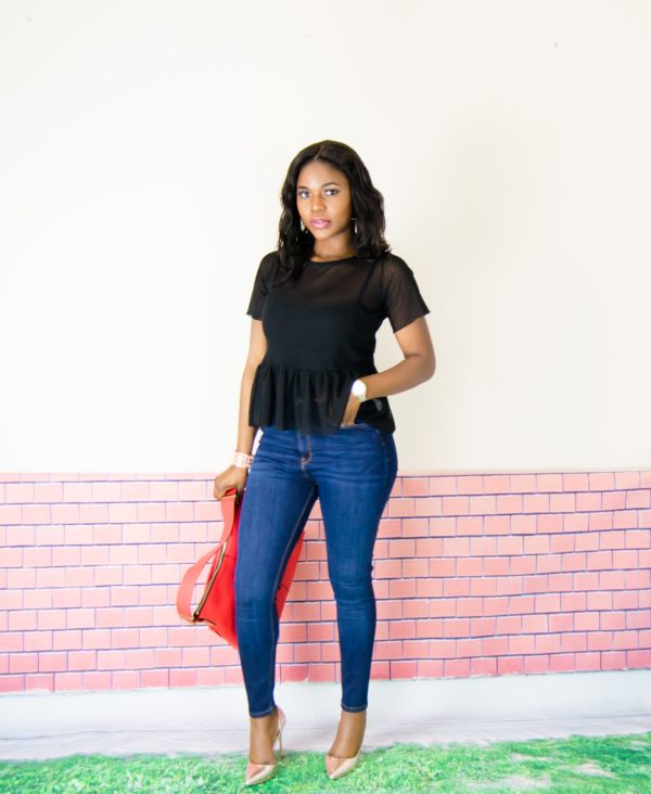 peplum top outfit