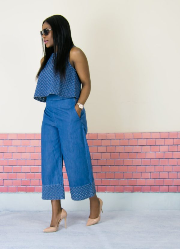 denim co-ord outfit