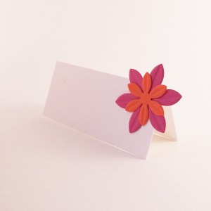 Handmade floral place cards now available in our shop.