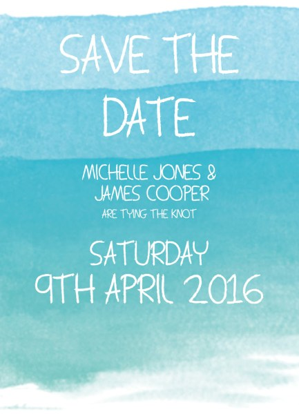 Printed or magnetic save the date.