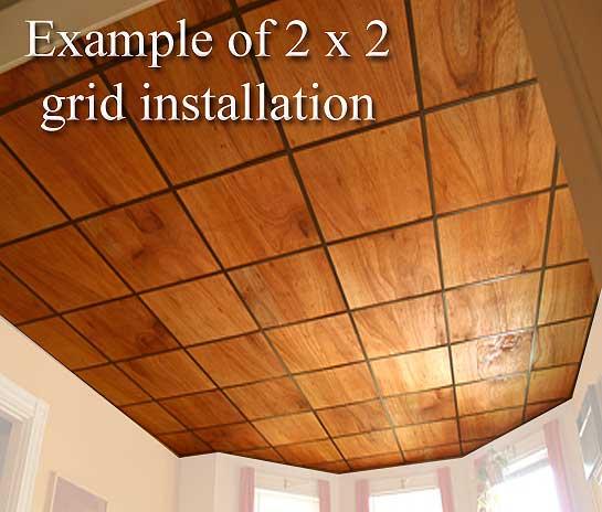 Wood Grain Tiles Drop Ceiling