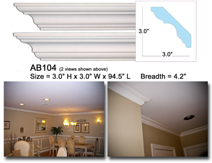 AB104 Crown Molding