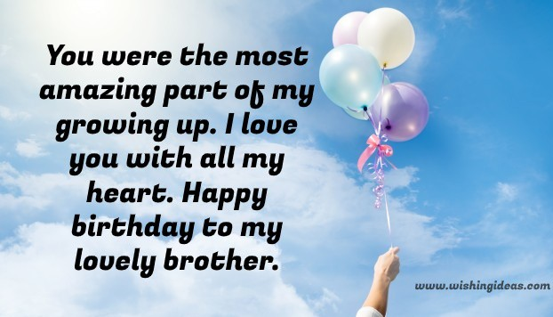 Birthday image with quotes for brother