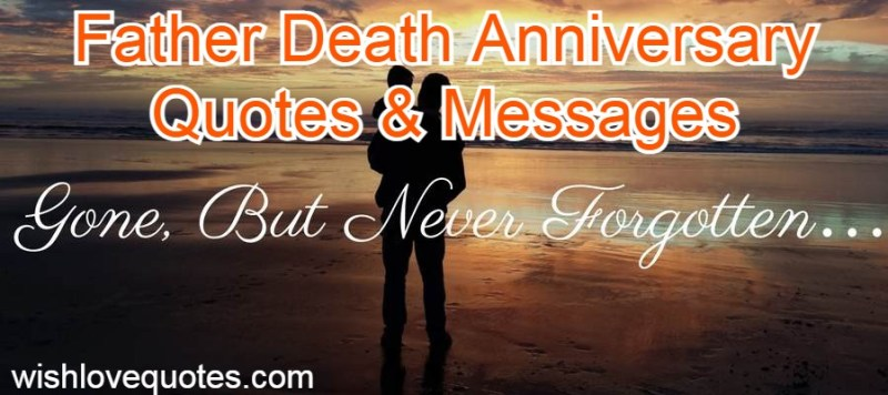 father death anniversary quotes