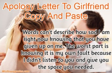 apology letters to girlfriend