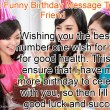 Funny Birthday Message To A Friend