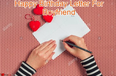Happy Birthday Letter For Boyfriend