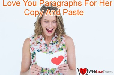 I Love You Paragraphs For Her